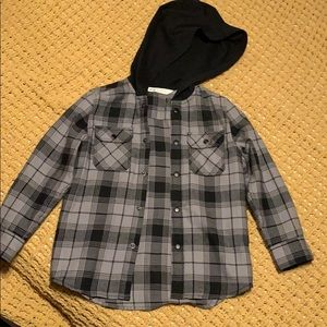 Gray Flannel with hoodie